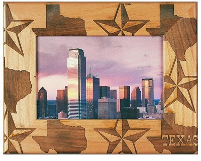 Texas Laser Engraved Wood Picture Frame (5 x 7)
