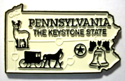 Pennsylvania State Outline Fridge Magnet Design 2