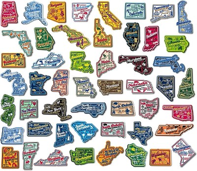 Complete Set of Premium State Map Magnets Plus Washington D.C. Design 2