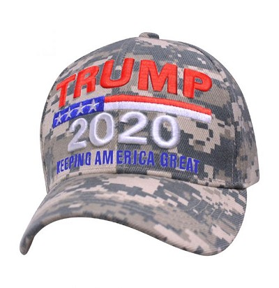 Trump 2020 Embroidered Baseball Cap Camo