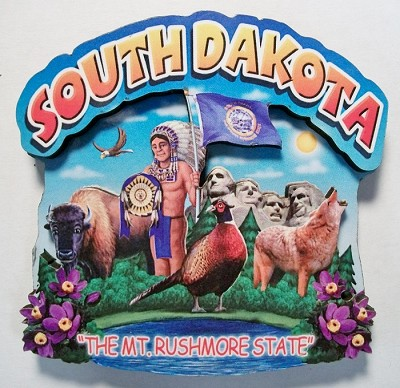 South Dakota Montage Artwood Magnet