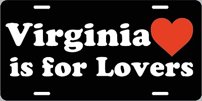 Virginia is for Lovers License Plate