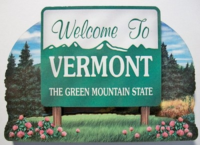 Vermont State Welcome Sign Artwood Fridge Magnet Design 14