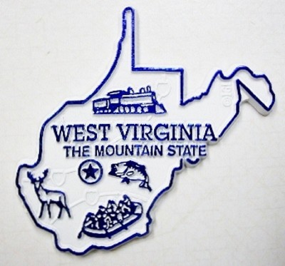 West Virginia Fridge Magnet Design 2