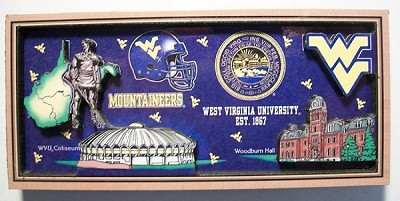 West Virginia University Artwood Magnet Design 27