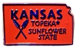 Kansas The Sunflower State Souvenir Fridge Magnet