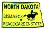 North Dakota State Outline Fridge Magnet