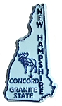 New Hampshire State Outline Fridge Magnet