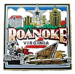 Roanoke Virginia Square Collage Fridge Magnet