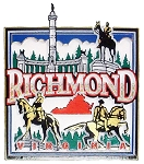 Richmond Virginia Square Collage Fridge Magnet