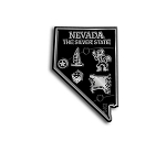 Nevada The Silver State Map Fridge Magnet
