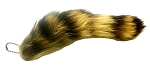 Real Raccoon Tail Keychain 6-10 Inches