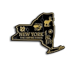 New York The Empire State Map Fridge Magnet