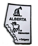 Alberta Canadian Province Grey Fridge Magnet