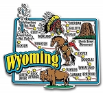 Wyoming Jumbo State Map Fridge Magnet