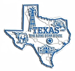 Texas the Lone Star State Map Fridge Magnet