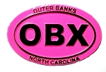 Outer Banks Pink Oval Fridge Magnet