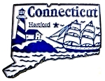 Connecticut Hartford United States Fridge Magnet