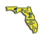 Florida The Sunshine State Map Fridge Magnet