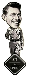 Andy Griffith Sit A Spell Bobble Head Artwood Fridge Magnet