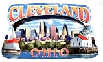 Cleveland Ohio Montage Artwood Fridge Magnet