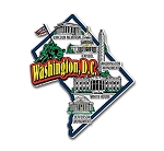 Washington D.C. Jumbo State Map Fridge Magnet