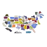 All 50 State Magnets Plus Puerto Rico and Washington D.C.