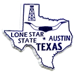 Texas The Lone Star State Fridge Magnet