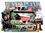 Pennsylvania Montage Artwood Fridge Magnet
