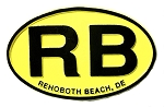 Rehoboth Beach Delaware Yellow Oval Fridge Magnet