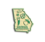 Georgia the Peach State Map Fridge Magnet