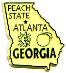 Georgia The Peach State Fridge Magnet