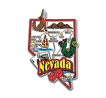 Nevada Jumbo Map Fridge Magnet