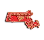 Massachusetts The Bay State Map Fridge Magnet