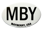 Mayberry MBY North Carolina Oval Fridge Magnet