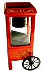 Red Popcorn Cart Die Cast Metal Collectible Pencil Sharpener