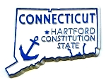 Connecticut State Outline Magnet