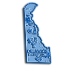 Delaware The First State Map Fridge Magnet