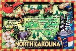North Carolina Cartoon Magnet Fridge