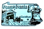 Pennsylvania State Outline Fridge Magnet
