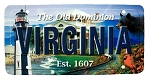 Virginia The Old Dominion State License Plate Souvenir Fridge Magnet