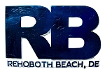 Rehoboth Beach Delaware Blue Block Design Fridge Magnet