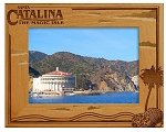 Santa Catalina the Magic Isle Engraved Wood Picture Frame (5 x 7)