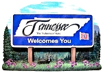 Tennessee State Welcome Sign Artwood Fridge Magnet
