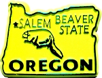Oregon State Outline Fridge Magnet