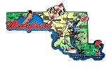 Maryland State Outline Decowood Jumbo Fridge Magnet