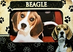 Beagle Picture Frame Fridge Magnet