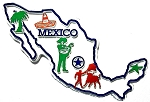 Mexico 4 Color Map Fridge Magnet