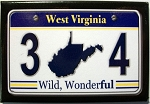 West Virginia Wild,Wonderful 304 License Plate Fridge Magnet
