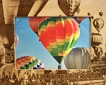 Albuquerque New Mexico with Balloons Laser Engraved Wood Picture Frame